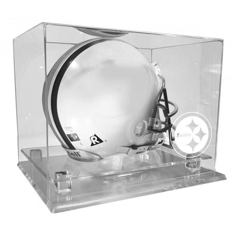 Pittsburgh Steelers Museum Edition All Clear Helmet Display