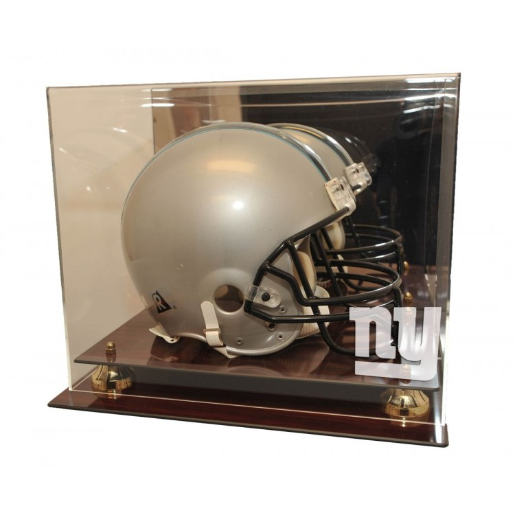New York Giants Mahogany Finished Acrylic Helmet Display