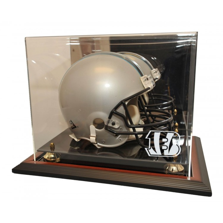 Cincinnati Bengals Zenith Helmet Display, Brown
