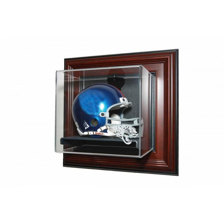 Jacksonville Jaguars Mini helmet âœCase-Up❠Display, Mahogany
