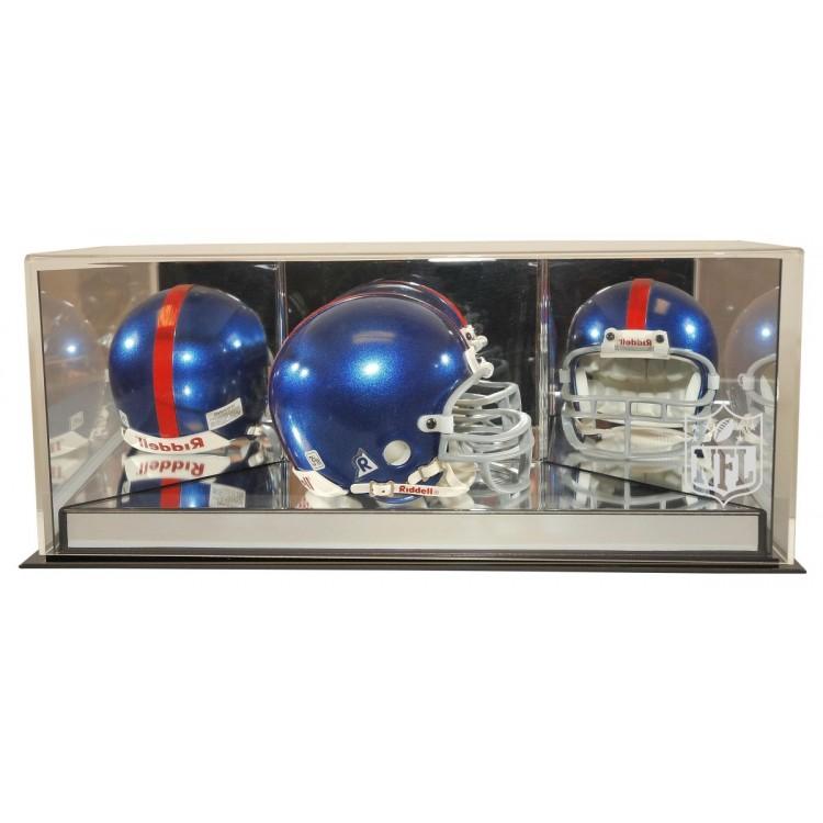 NFL Logo 4th Dimension Mini Helmet Display