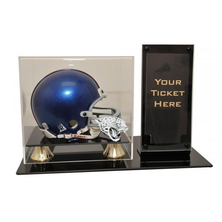 Jacksonville Jaguars Mini Helmet and Ticket Display