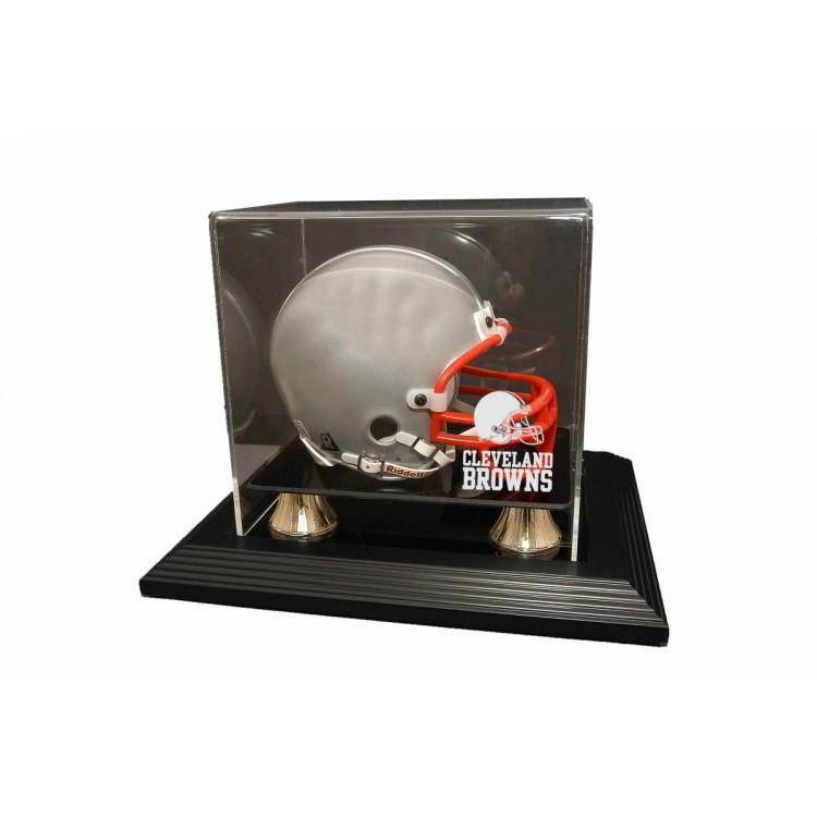 Cleveland Browns Zenith Mini Helmet Display - Black