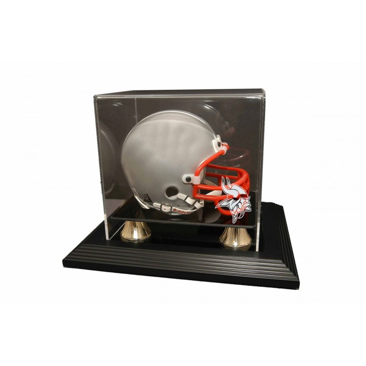 Minnesota Vikings Zenith Mini Helmet Display - Black