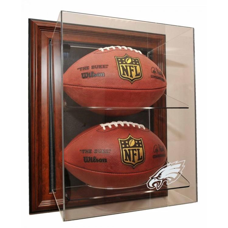"Philadelphia Eagles 2 Football ""Case-Up"" Display, Brown"