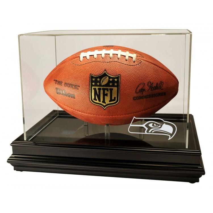 Seattle Seahawks Boardroom Football Display, Black