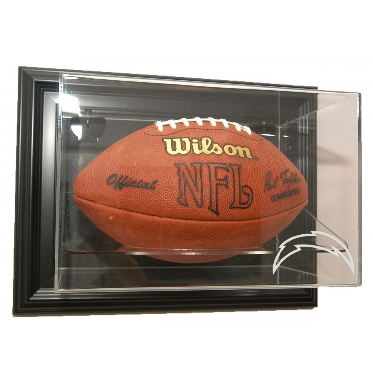 """San Diego Chargers Football """"Case-Up"""" Display - Black"""
