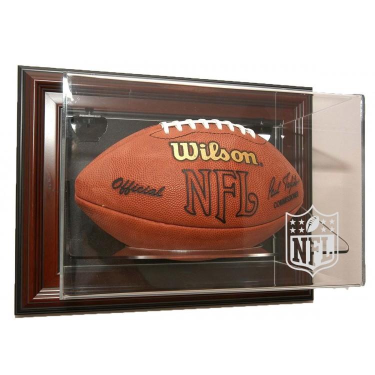 """NFL Logo Gear Football """"Case-Up"""" Display - Mahogany"""