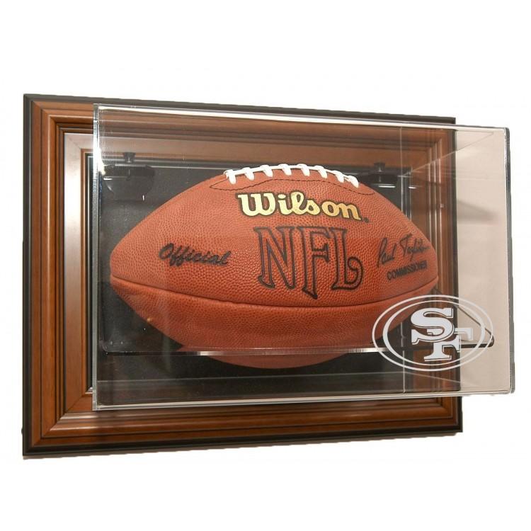 "San Francisco 49ers Football ""Case-Up"" Display - Brown"