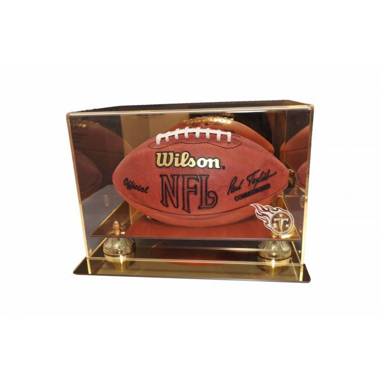 Tennessee Titans Gold Mirror Finish Football Display