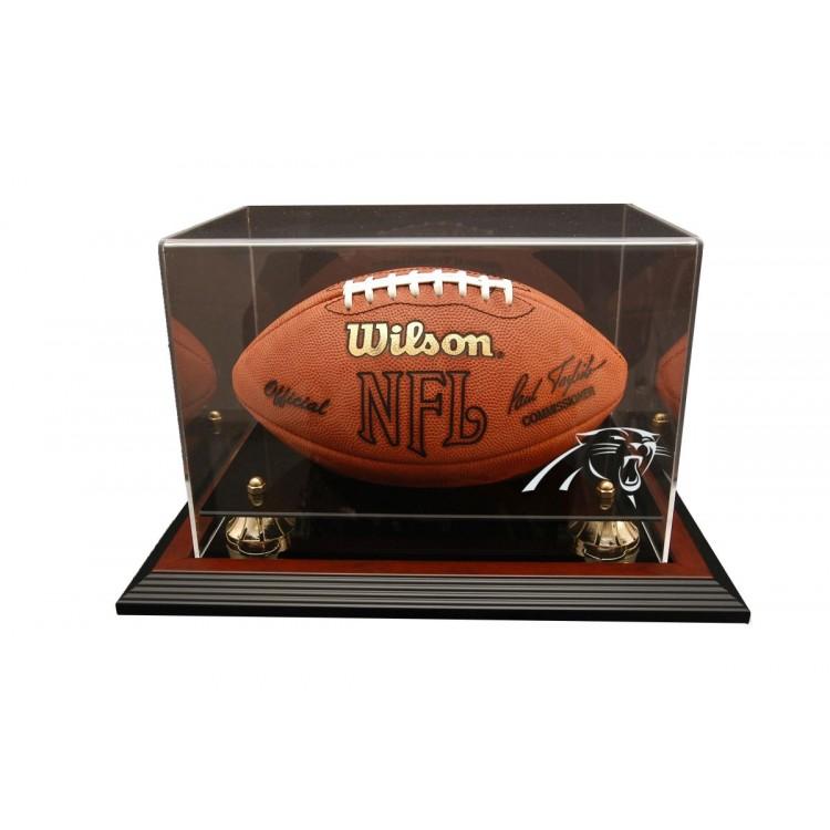 Carolina Panthers Zenith Football Display - Mahogany