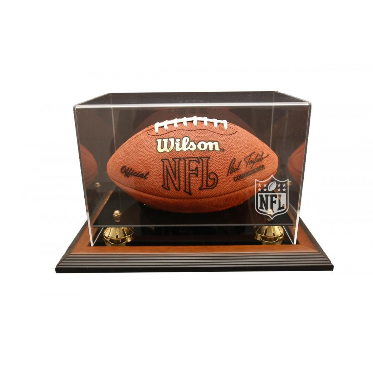 NFL Logo Gear Zenith Football Display - Brown