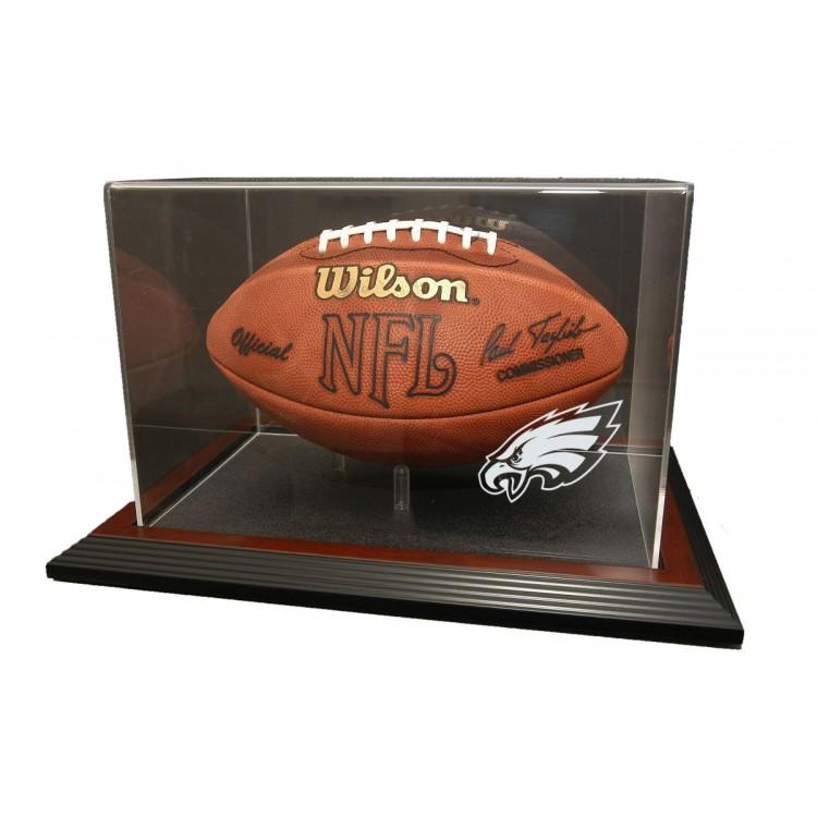 Philadelphia Eagles Zenith Football Display - Mahogany