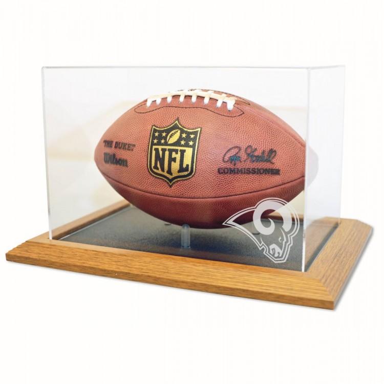 St. Louis Rams Zenith Football Display - Natural