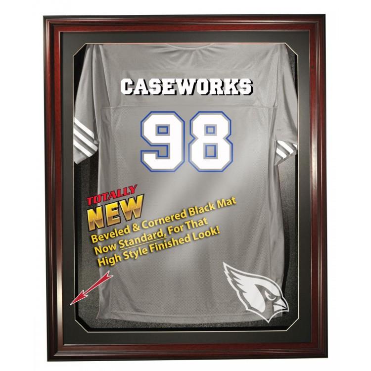 Arizona Cardinals Cabinet Style Jersey Display - Mahogany