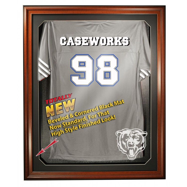 Chicago Bears Full Size Removable Face Jersey Display, Brown