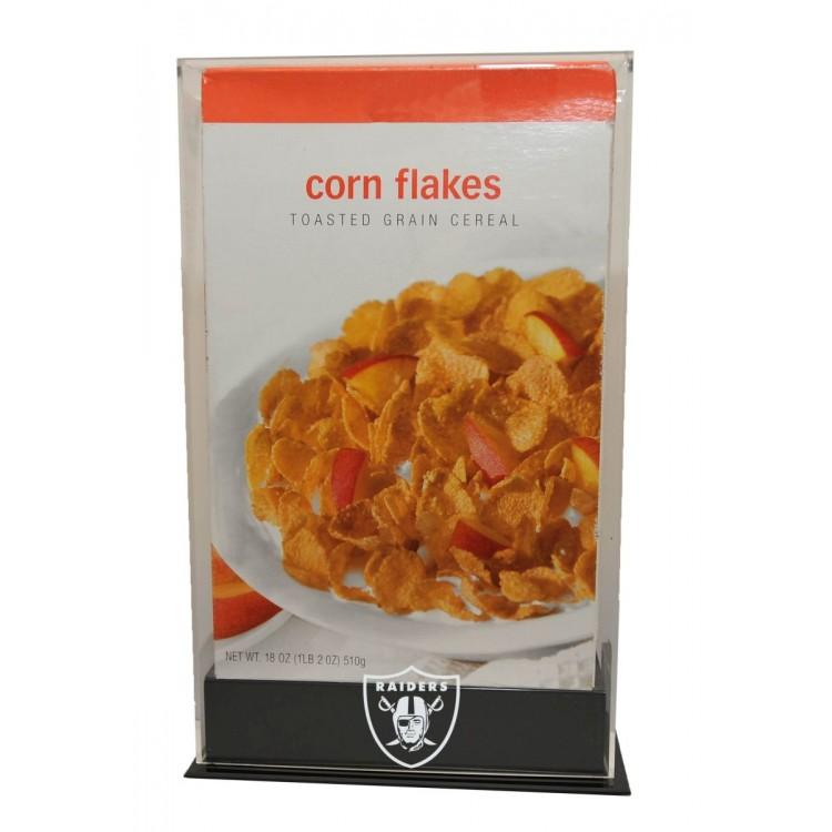Oakland Raiders 18 oz. Cereal Box Display