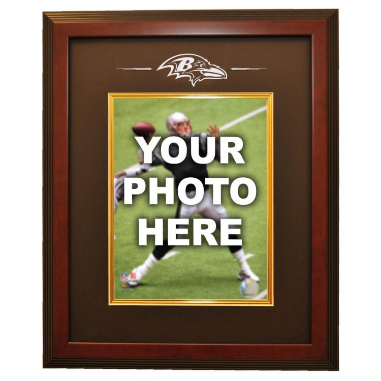 Baltimore Ravens 8x10 Photo Ready Made Frame System, Mahogany