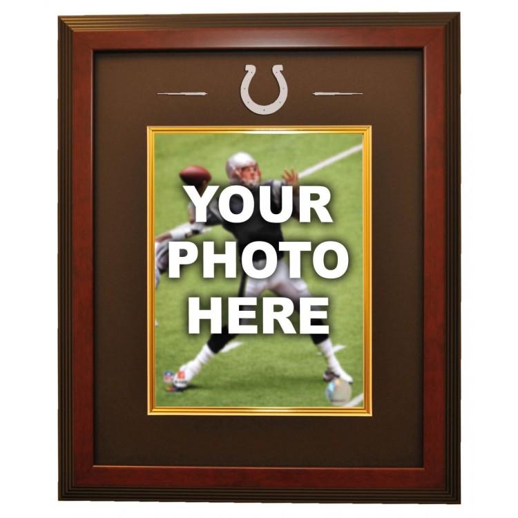 Indianapolis Colts 8x10 Photo Ready Made Frame System, Mahogany