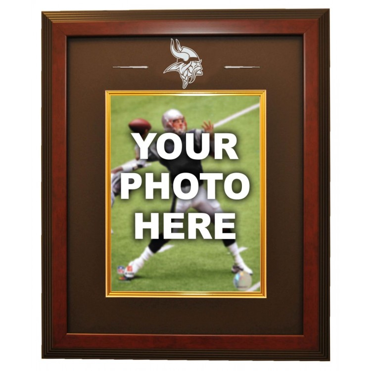 Minnesota Vikings 8x10 Photo Ready Made Frame System, Mahogany