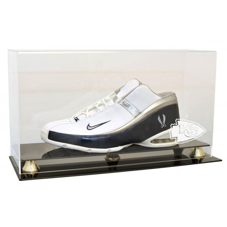 Kansas City Chiefs Single Shoe Display Case - Size 23