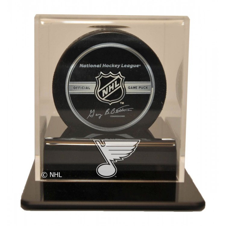 St. Louis Blues Single Hockey Puck Display Case