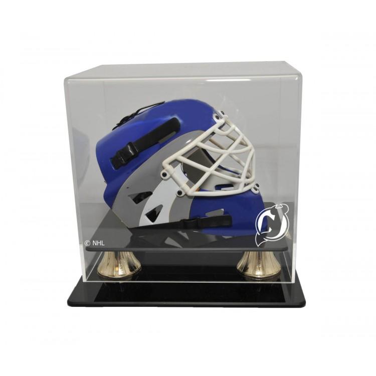 New Jersey Devils Mini Hockey Helmet Horizontal View Display