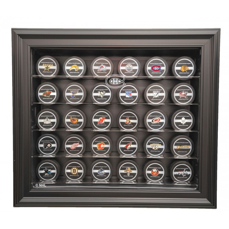 Montreal Canadiens 30 Puck Cabinet Style Display Case, Black
