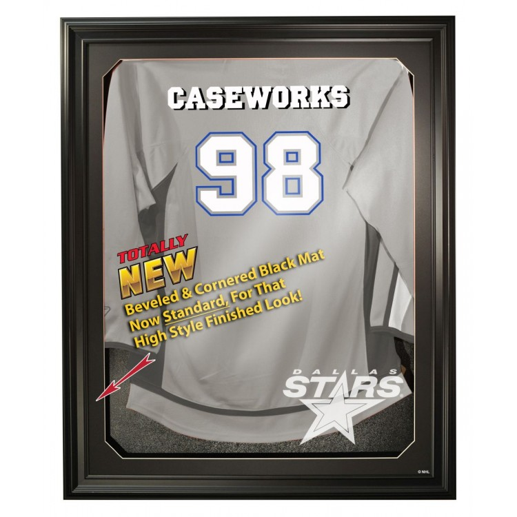 Dallas Stars Full Size Removable Face Jersey Display, Black