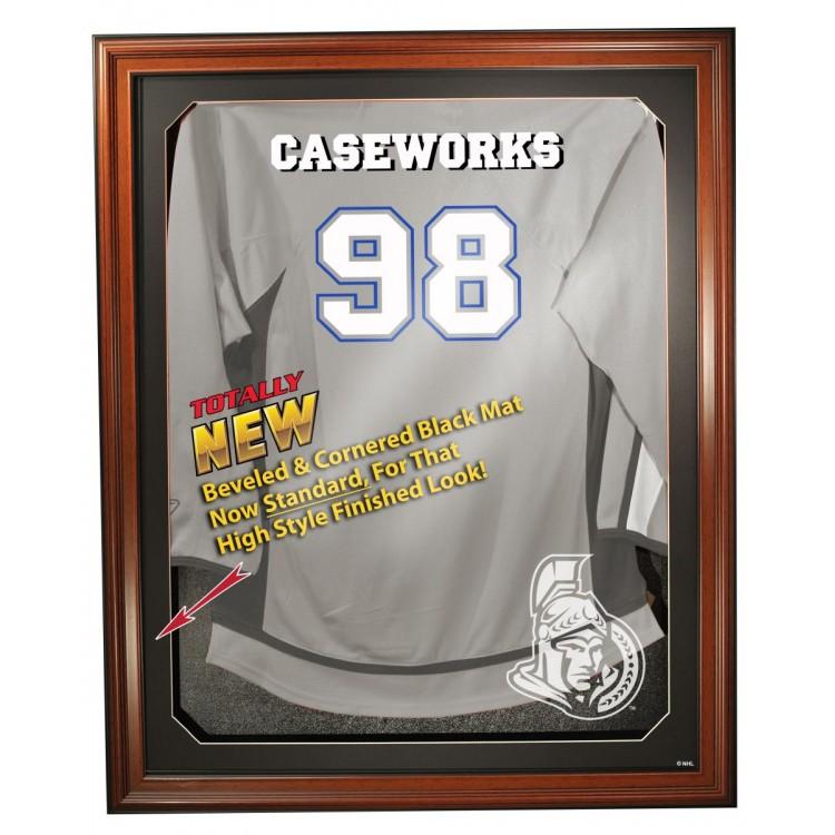 Ottawa Senators Cabinet Style Jersey Display, Brown