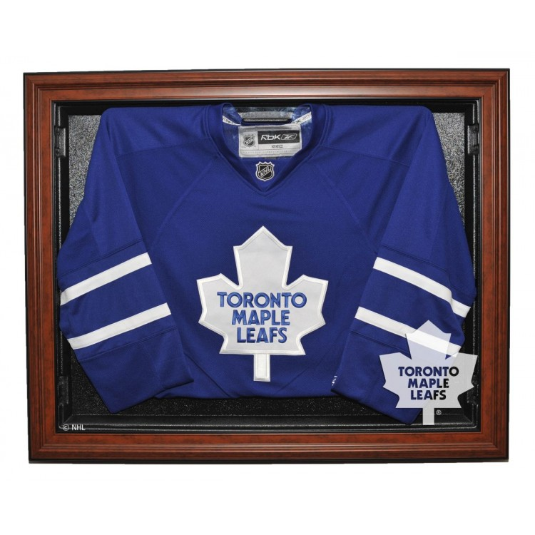 Toronto Maple Leafs E-Z Removable Face 3/4 View Jersey Display, Brown