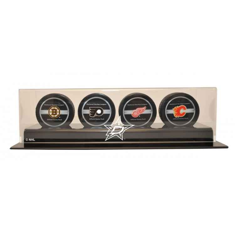 Dallas Stars 4 Puck Display
