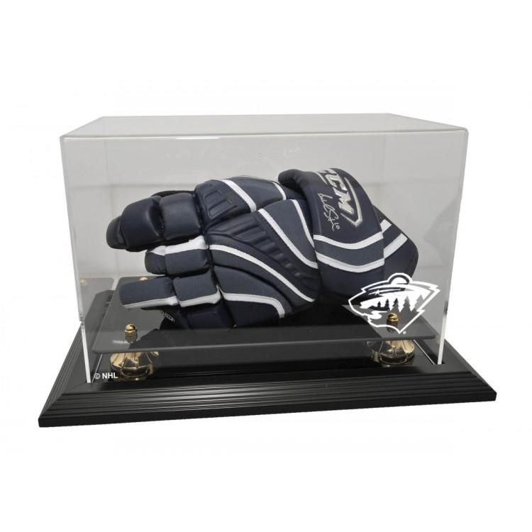 Minnesota Wild Hockey Glove Display, Black