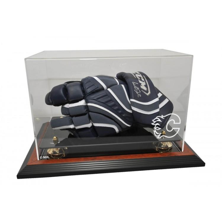 Calgary Flames Hockey Glove Display, Brown