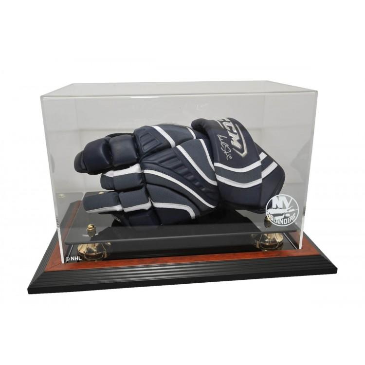 New York Islanders Hockey Glove Display, Brown