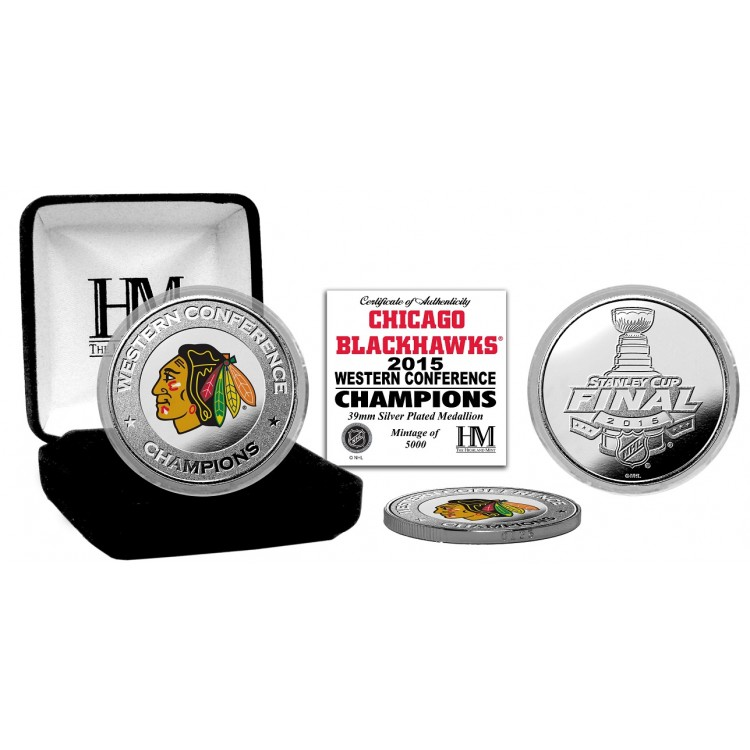 Chicago Blackhawks 2015 NHL Western Conference Champions Silver Mint Coin