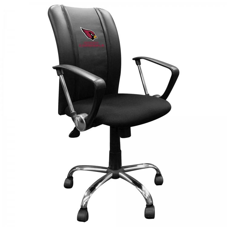Arizona Cardinals Curve Task Chair with Cardinals Secondary Logo