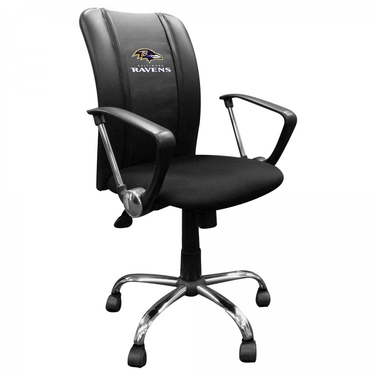 Baltimore Ravens Curve Task Chair with Ravens Secondary Logo