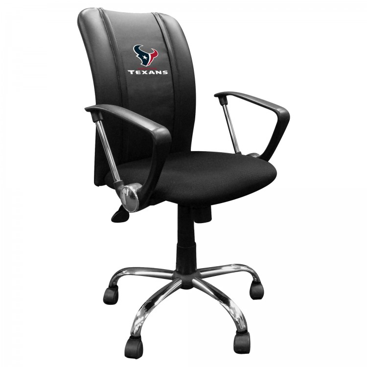 Houston Texans Curve Task Chair with Texans Secondary Logo