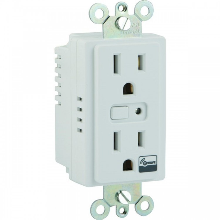 GE 12721 Z-Wave(R) In-Wall On/Off Duplex Receptacle