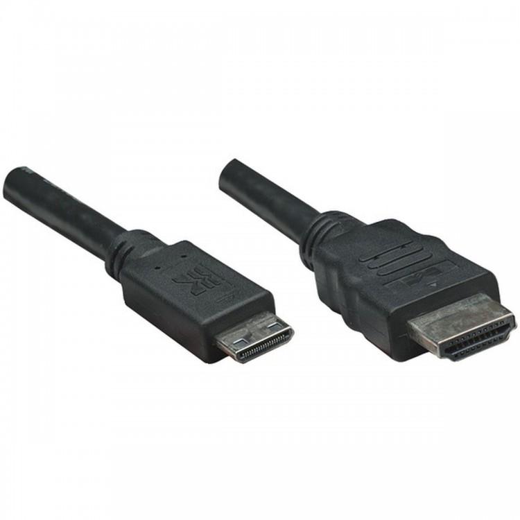 MANHATTAN 304955 High-Speed Mini HDMI(R) to HDMI(R) A Cable, 6ft