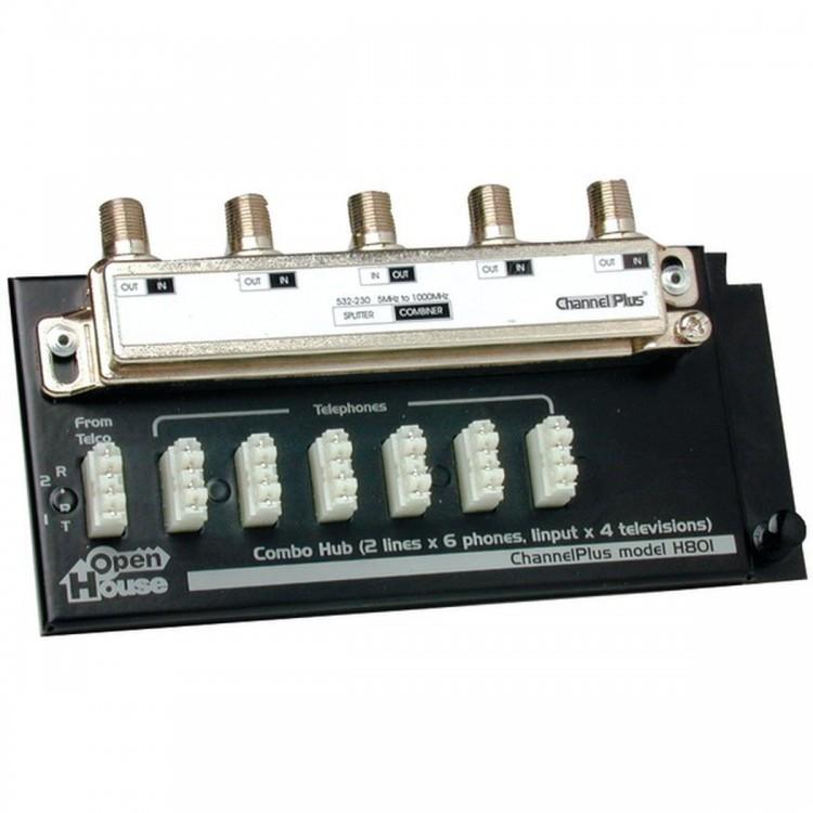 OPEN HOUSE H801 Combination Telephone/TV Hub