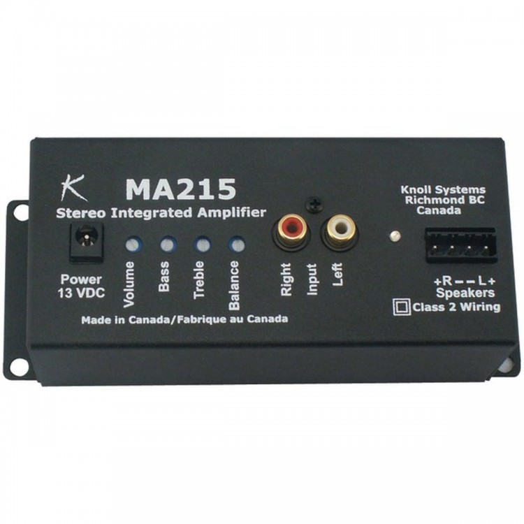 KNOLL SYSTEMS MA215E 15-Watt, 2-Channel Zone Amp with Eco-System(TM)