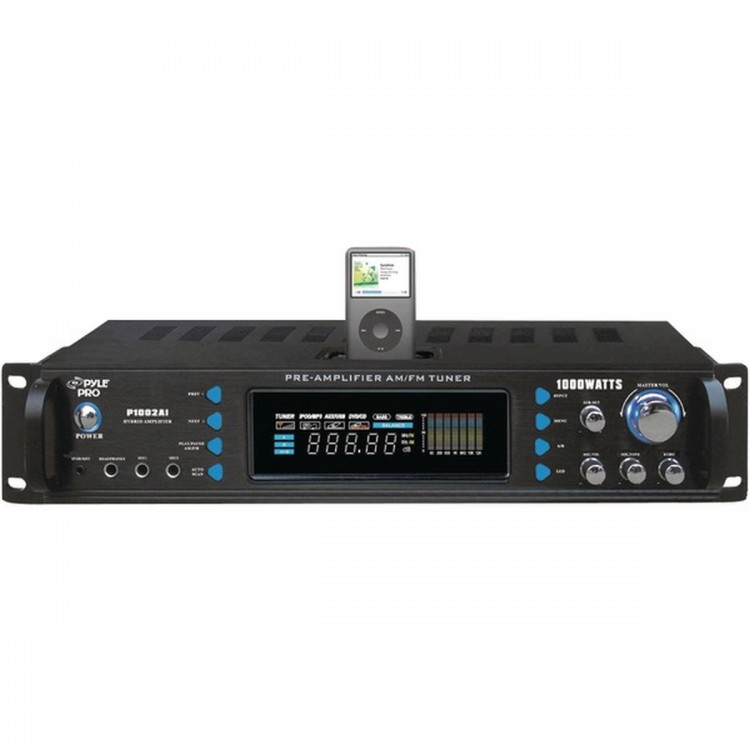 PYLE PRO P1002AI 1,000-Watt Hybrid Receiver with iPod(R) Dock