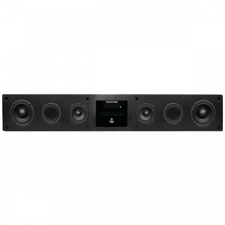 PYLE PSBVWF300B Smart SoundBar HD 300W Digital Speaker System with Built-in Android(TM) Computer, Wi-Fi, Bluetooth(R), Microphone, USB & SD Card Readers