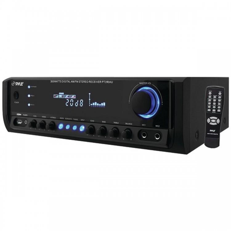 PYLE HOME PT390AU 300-Watt Digital Home Stereo Receiver System