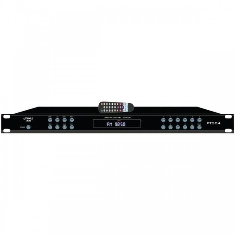 PYLE HOME PT504 Rack-Mount AM/FM Receiver with Auto-Start