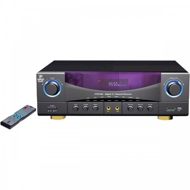 PYLE PRO PT570AU 5.1-Channel 35-Watt AM/FM Receiver
