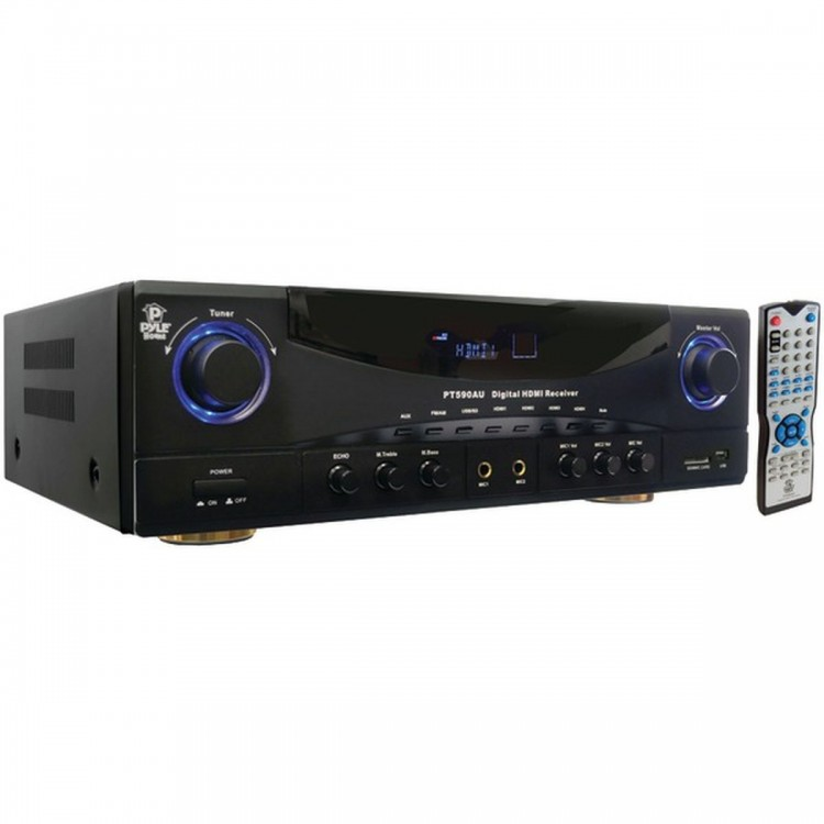 PYLE HOME PT590AU 5.1-Channel, 350-Watt Amp Receiver with 3D Pass Through