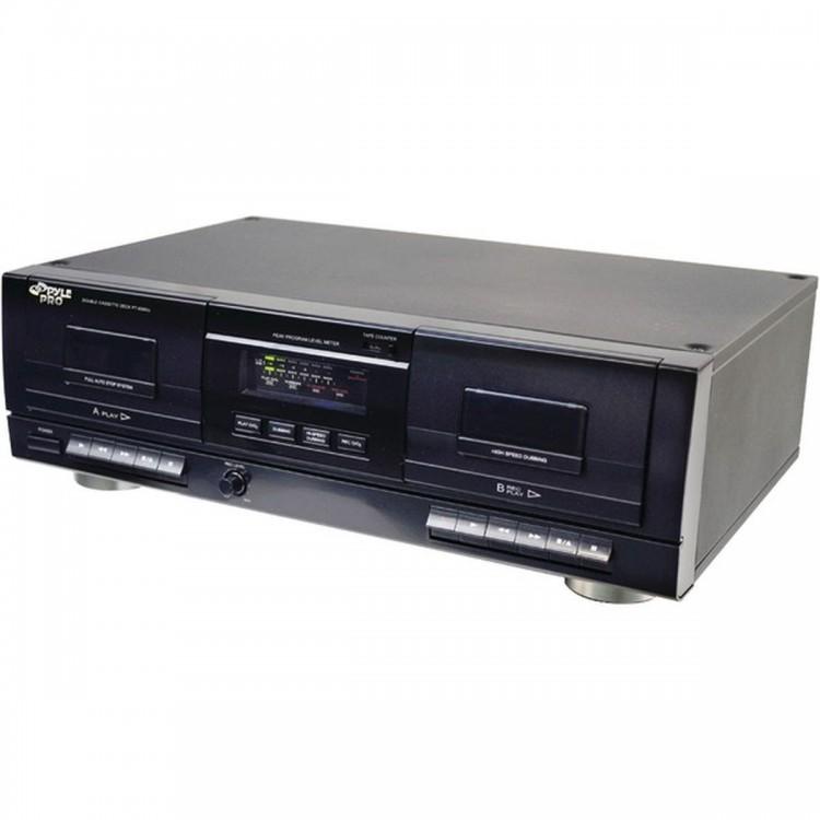 PYLE PRO PT659DU Dual Cassette Deck with MP3 Conversion